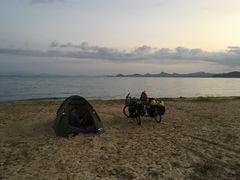 Kamperen op het strand van Matsuyama