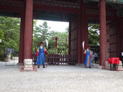Guards at a temple