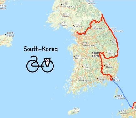 2019 cycled route south korea