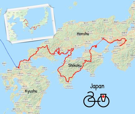 2019 gefietste route japan