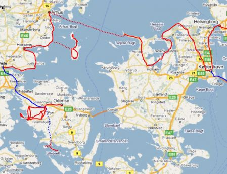route denemarken